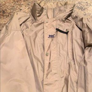 Men's tan XL rain jacket Helly Hansen